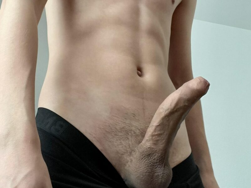 Big cock out of undies