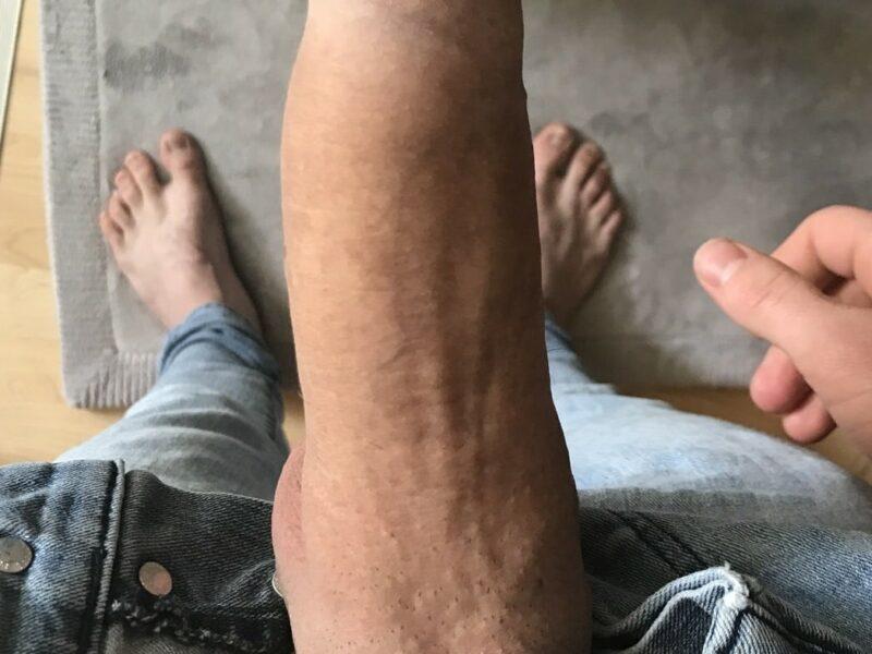 Big fat erected penis