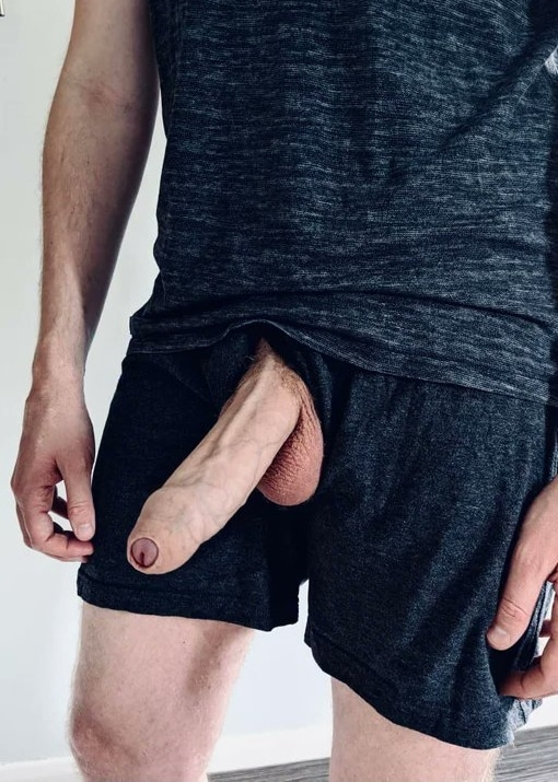 Dick out of underwear