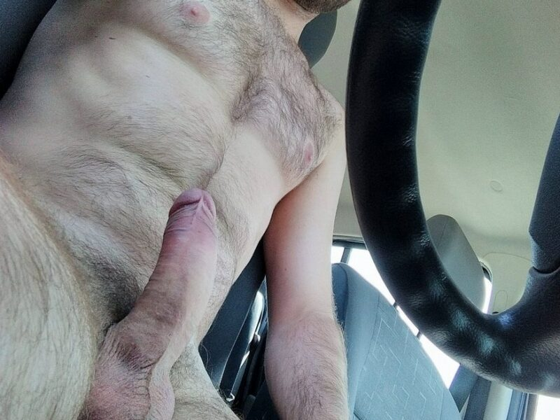 Hairy guy with a hard cock