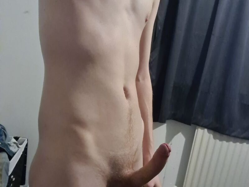 Hard cock standing up