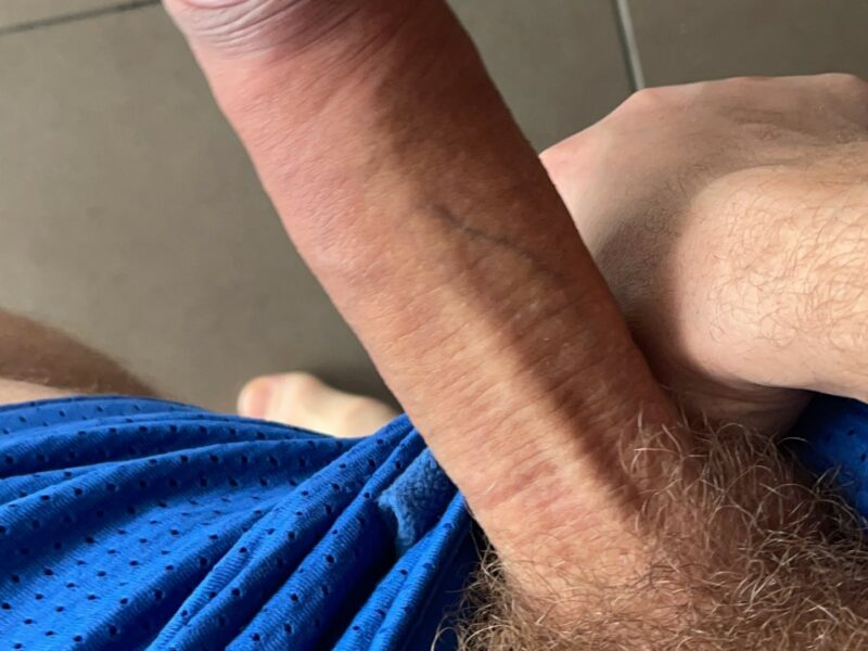 Hard cock with pubic hair