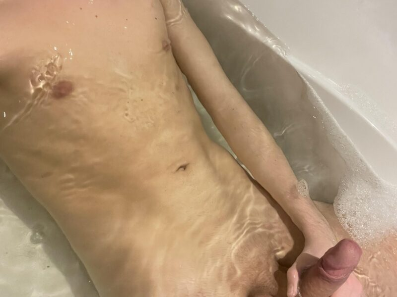 Naked boy in the bathtub