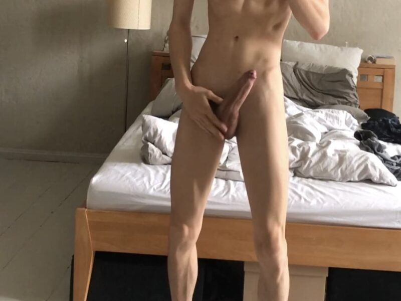 Nude boy with a perfect penis