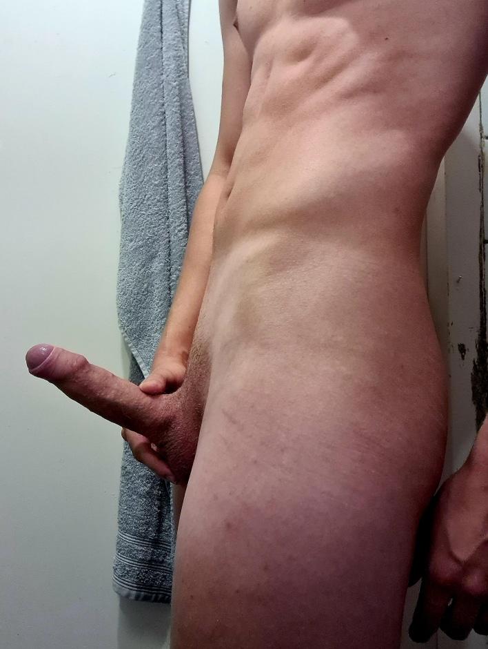 Nude boy with a boner